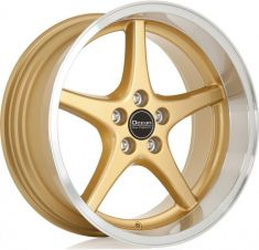 Ocean Wheels MK18 gold polish lip 18/8.5