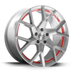 BARRACUDA TZUNAMEE EVO Silver Brushed Undercut Trimline Red 20/9