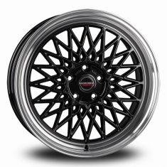 Borbet B Black Polished black rim polished 19/8.5