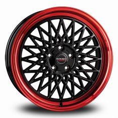 Borbet B Black Red black rim red 17/8