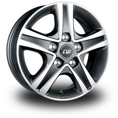 Borbet CWD Antracite Polished ANTHRACITE POLISHED GLOSSY 16/6.5