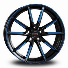 Borbet LX Black Blue Polished BLACK MATT SPOKE RIM BLUE POLISHED 19/8