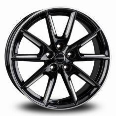 Borbet LX18 Black Silver Black Matt Silver Spoke Rim 18/8