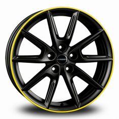 Borbet LX18 Black Yellow Black Matt Rim Yellow 18/8