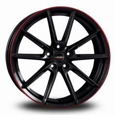 Borbet LX Black Red Black Glossy Rim Red 19/8