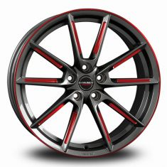 Borbet LX Graphite Red Polished Graphite Spoke Rim Red Polished 19/8,5