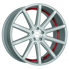 CORSPEED DEVILLE Silver-brushed-surface--Undercut-Color-Trim-Rot 22/9.5