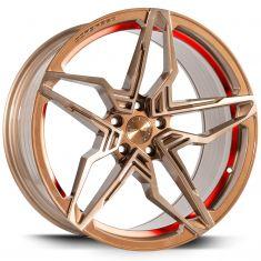 Corspeed KHARMA Higloss-bronze-Brushed-Surface-Undercut-Trimline-Red 20/9