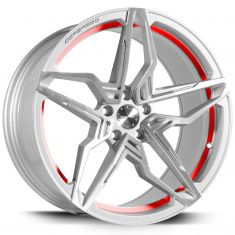 Corspeed KHARMA Silver-brushed-surface-Undercut-Trimline-Red 19/8.5
