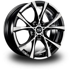 MSW Cross Over BLACK FULL POLISHED 17/7.5