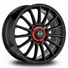 OZ Superturismo Evoluzione GLOSS BLACK + RED LETTERING 19/8.5