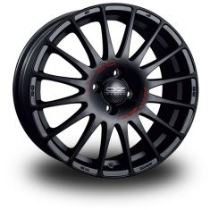 OZ Superturismo GT Black MATT BLACK RED LETTERING 19/8