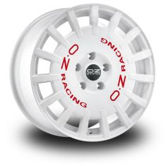 OZ Rally Racing White White Red Lettering 18/8