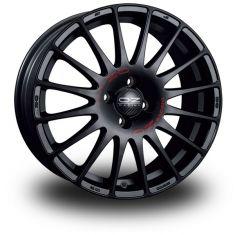 OZ Superturismo GT Black Matt Black Red Lettering 16/7