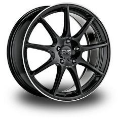 OZ Veloce GT Gloss Black+diamond Lip+silver Lettering 17/7,5