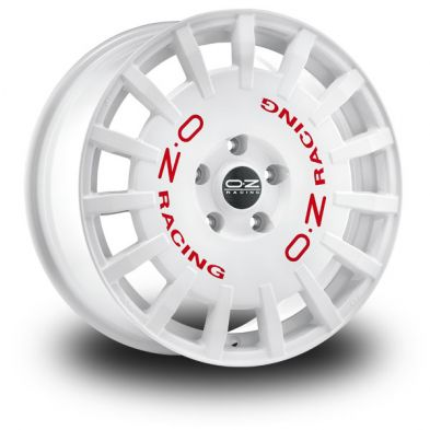 OZ Rally Racing White WHITE RED LETTERING 17/7