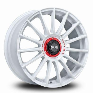 OZ Superturismo-Evoluzione-WRC Race-White-Red-Lettering 19/8,5