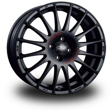 OZ Superturismo GT Black MATT BLACK RED LETTERING 14/6